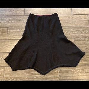Vintage St. John Couture Skirt in Black Size 2